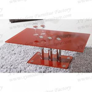 China red glass tea table xyct-043 on sale