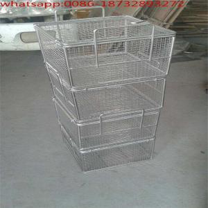 China Wire Mesh Supermarket Single Handle Shopping Basket/304 Stainless Steel Wire Mesh Baskets on sale