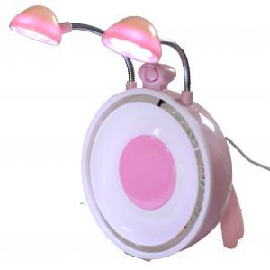 China Fan d'USB avec les lumières de LED et le miroir cosmétique, opération silencieuse on sale