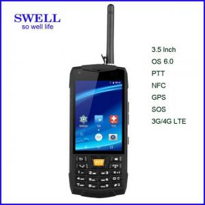 China 3.5 Inch Rugged Waterproof Mobile Phone , Ruggedized Android Phone Support Compass on sale