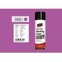Deep Viole Marking Spray Paint , Survey Marking Paint For Bitumen 235g