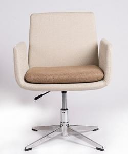 China Safety Item Adjustable Executive Office Chair , Fabric White Swivel Chair on sale
