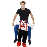 China Men Halloween Sinister Clown Piggy Back Animal Mascot Costumes on sale