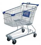 Multi - Function Wire Shopping Carts USA Type Coin Locked Metal Shopping Basket