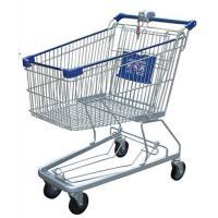 Multi - Function Wire Shopping Carts USA Type Coin Locked Metal Shopping Basket