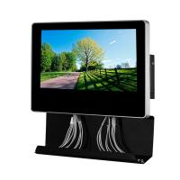 Metal Wall Mounted Electric Mobile Phone Charging Station Digital Signage  With 21.5