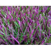 Recycled Garden Artificial Grass Violet 35 Mm Height C Shape Design