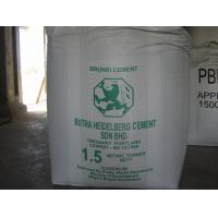 China Tubular Type A big 2 Ton Bulk Bags Jumbo bag with PE liner Cement bulk bags on sale