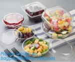 32oz Disposable Clear PET Plastic Salad Bowl With Lid PLA Biodegradable Salad Bowl,24oz Pet Disposable Plastic Salad Bow