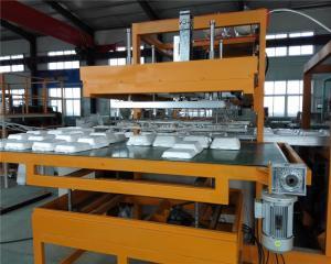 China White Plastic Styrofoam Disposable Takeaway Food Box Machine Plc Controlled on sale