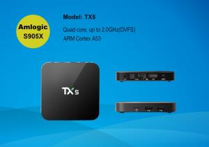 China High quality factory price android tv box Amlogic S905X up to 2.0 GHz, Quad core ARM Cortex-A5 support kodi 16.0 on sale