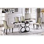 muebles de la mesa de comedor del mármol del rectángulo del estilo de la mariposa
