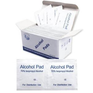 China 70% Isopropyl Medical Alcohol Swabs Pad , Alcohol Disinfectant Wipes Anti Virus on sale