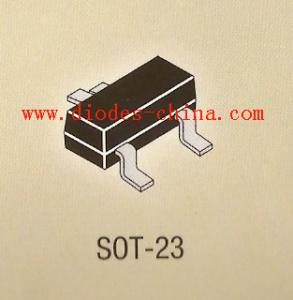 China 0.35w zener diode in SOT-23, SOT-323 SMD BZX84C5V6 BZX84C9V1 BZX84C12 on sale