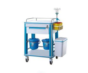 China Plastic Surgical Instrument Trolley Hospital Serving Movable For Medical Treatment Crash on sale