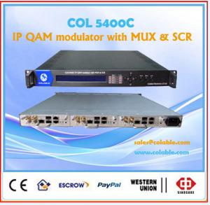 China Digital cable tv  IP QAM modulator 8 in 1 with CAS on sale