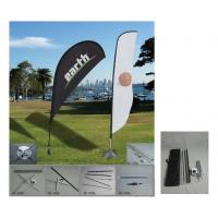 Display Feather Custom Beach Flags Stitching Grommet Outdoor Teardrop Banners