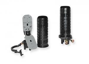 China Vertical / Dome Fiber Optic Splice Closure, Heat Shrink Sealing, Max 96 Fiber Splicing on sale