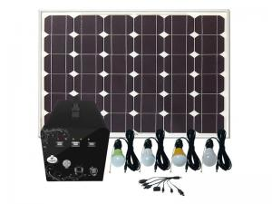 China Solar power home system 60W for TV/ Satellite receiver , LED lighting, radio using on sale