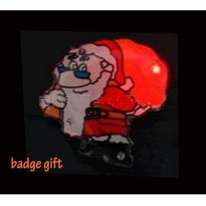 China BF11008A blinking led lights flashing badges Christmas festival with CE, RHOS, FCC on sale