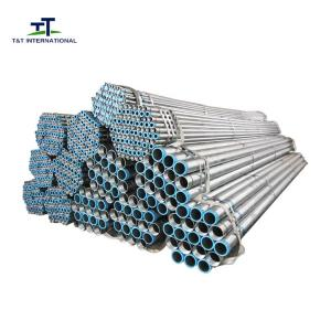 China 1/2-8 Inch Pre Galvanized Pipes , Galvanized Metal Tube Replacement Small OD on sale