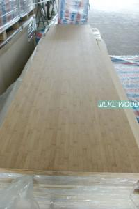 China Bamboo solid wood panel finger jionted worktops countertops table tops butcher block tops kitchen tops on sale