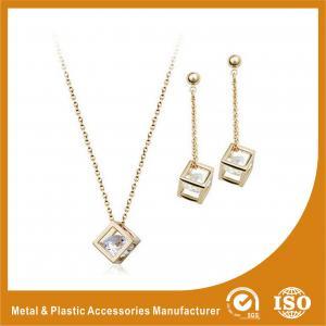 China Personalised Fashion Diamond Zinc Alloy Jewelry Sets For Women on sale