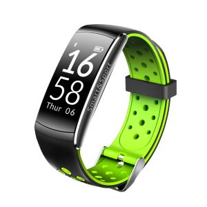 China 0.96 inch 128*64 dots Size HR sensor Silicon labs Si1142 red green black Tricolor smart watch. on sale