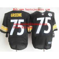 Nike Pittsburgh Steelers #75 GREENE Black Elite Jerseys
