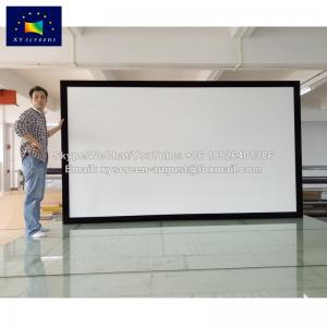 China XYSCREENS home theater system 200 inch fixed frame projection screen 3D 4K ready on sale
