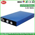 Rechargeable 3.2v 60ah lithium battery or lifePO4 battery cell for wind energy storage system