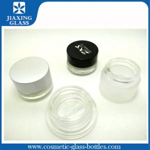China Seal And Aluminum Lids 8g Cosmetic Glass Jars For Eye Cosmetics on sale