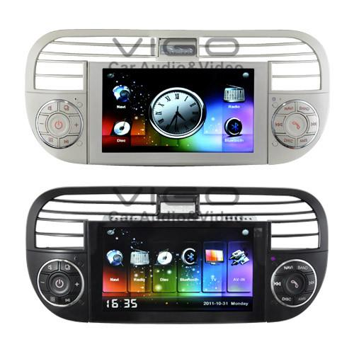 fiat 500 headunit gps car stereo sat nav auto radio dvd. Black Bedroom Furniture Sets. Home Design Ideas