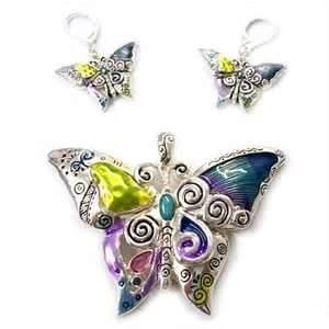 China Eco friendly Nagara Multi Color children Butterfly Sterling Silver Initial Charms for party on sale