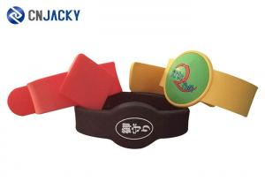 China Eco Friendly Silicone Smart RFID Wristbands For Events With 13.56MHz Chips on sale