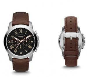 China Wholesale Fossil Grant Chronograph Men's Leather Watch FS4813 on sale
