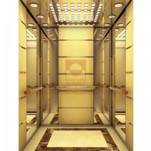 China Painted Modelling Stainless Gold Elevator Cabin Design Acrylic Light Decoration on sale