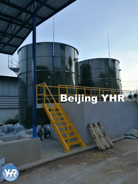 GFS Glass Fused Steel Tanks , Anaerobic Biogas Digester UASB 2 4m X