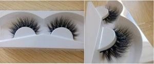 China Black Natural False Eyelash 3D hand-made thick and full private label cotton band on sale