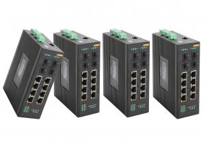 China 8 * RJ45 + 4 * SFP industrial POE Switch Support 802.1x authentication 8 port managed poe switch on sale