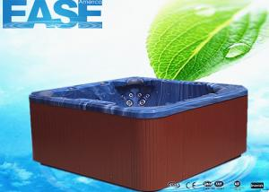 Quality Balboa control acrylic shell square massage outdoor 6 seat hot tub with two for sale