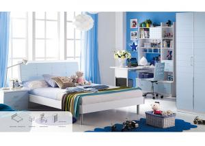 Light Blue Childrens Bedroom Furniture Sets , Mattress Size ...