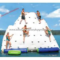 Giant Inflatable Water Iceberg Pool Float , Inflatable Climber For Water Park