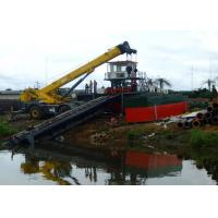 China Mud Sediment Gravel Cutter Suction Dredger With Pump Booster Station on sale