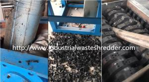 China Scrap Plastic HDPE Double Shaft Shredder Anti - Corrosive For Waste Pipe on sale