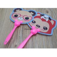 China Cartoon Pattern Plastic Hand Held Fans Cute Mini For Men And Women on sale