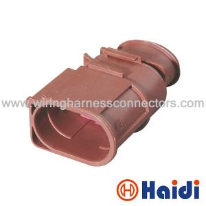 China Audi 2 Pin Electrical Wire Harness Plug Connectors  Male Sealed 3B0 973 852A on sale