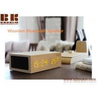Wireless Music Box Wooden Bluetooth 4.0 Speaker Alarm Ditigal Clock Touch Sensor Display Temperature