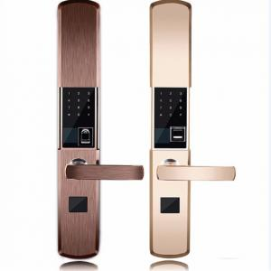 China Intelligent Zinc Alloy Fingerprint Door Lock With Super C Class Cylinder on sale