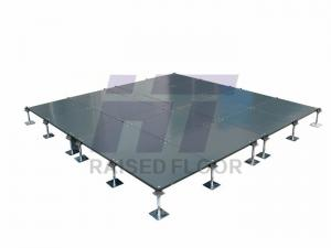 Grey OA Steel Raised Floor Intelligent Corner Lock Type Raised - Glass floor panels for sale
